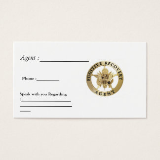FUGITIVE RECOVERY CARDS
