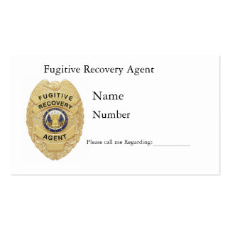 FUGITIVE RECOVERY CARDS BUSINESS CARD TEMPLATES