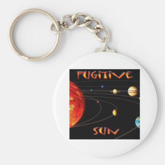 Fugitive Sun Basic Round Button Keychain