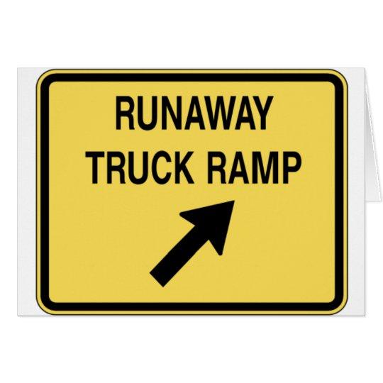 fugitivo-camión-rampa tarjeta de felicitación