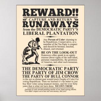 Fugitivo liberal de la plantación poster