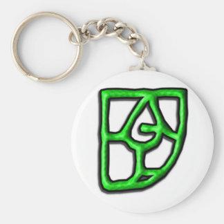 fugly_logo basic round button keychain