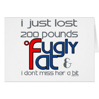 Fugly se divorció la tarjeta de felicitación
