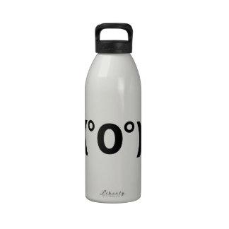 Fugu Kaomoji Japanese Emoticon Water Bottles