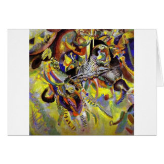 Fugue Abstract Painting by Kandinsky Card