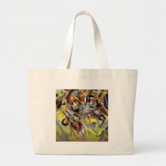 Fugue Abstract Painting by Kandinsky Large Tote Bag