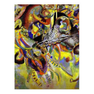 Fugue Abstract Painting by Kandinsky Postcard