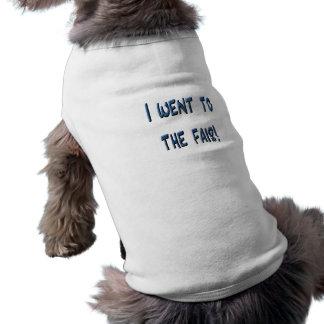 ¡Fui a la feria! Promo justo azul, efecto 3D Camiseta De Perro