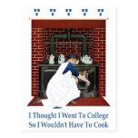 Fui a la universidad así que no tendría que cocina postales
