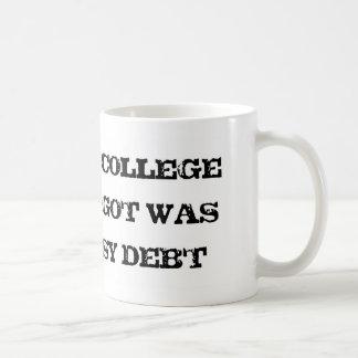 Fui a la universidad y toda I Got era esta deuda m Taza Básica Blanca