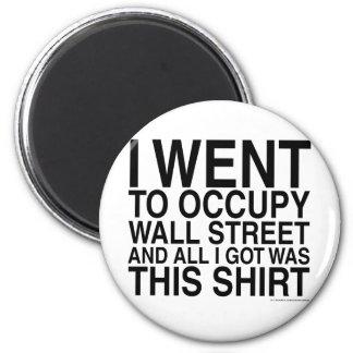 Fui a ocupar Wall Street Imán Redondo 5 Cm