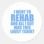 Fui a rehabilitar pegatina redonda