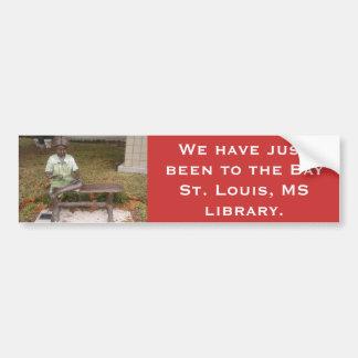 Fui al BSL, biblioteca pública del ms Pegatina Para Auto