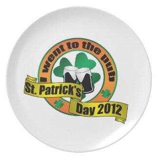 Fui al día 2012 de San Patricio del pub Platos De Comidas