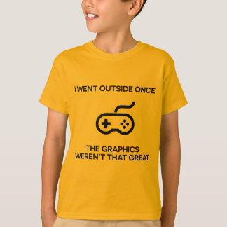 Fui camiseta una vez divertida del juego del