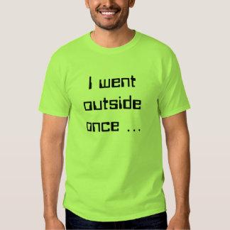 Fui exterior una vez… remera