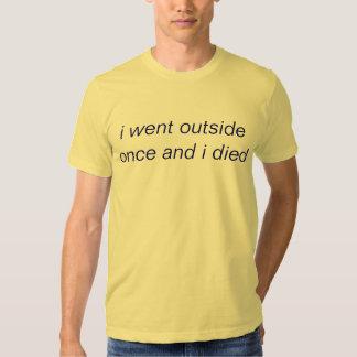 fui exterior una vez y morí playera
