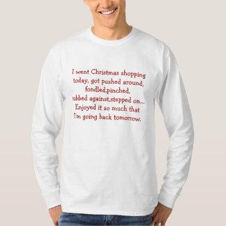 Fui navidad que hacía compras - manga larga básica playera