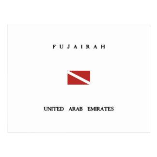 Fujairah United Arab Emirates Scuba Dive Flag Postcard