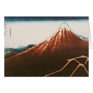 Fuji above the Lightning' Greeting Card