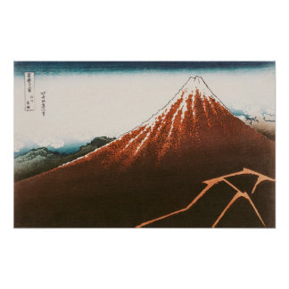 Fuji above the Lightning' Poster