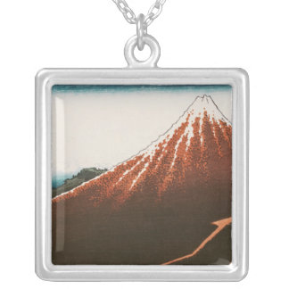 Fuji above the Lightning' Silver Plated Necklace