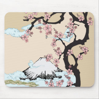 Fuji and Sakura Mouse Pad