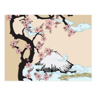 Fuji and Sakura Postcard