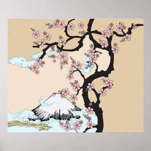 Fuji and Sakura Print