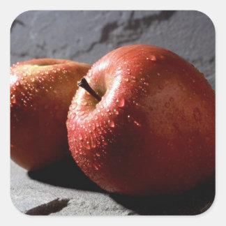 Fuji Apples Square Sticker