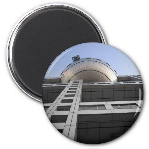 Fuji Building Japan 2 Inch Round Magnet