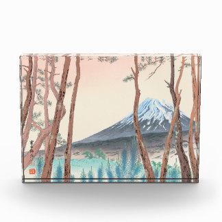 Fuji del bosque del pino en el arte del japonés de