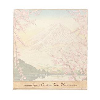 Fuji del hanga Japón de la espinilla de Kawaguchi  Bloc De Papel