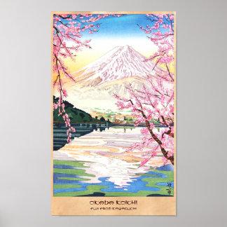 Fuji del hanga Japón de la espinilla de Kawaguchi Impresiones