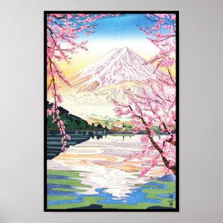 Fuji del hanga Japón de la espinilla de Kawaguchi Posters