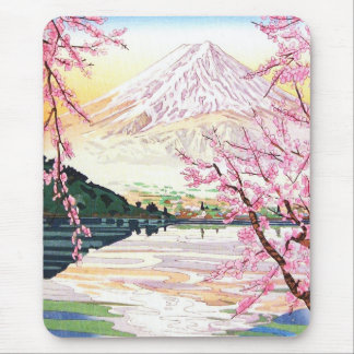 Fuji del hanga Japón de la espinilla de Kawaguchi  Alfombrillas De Ratón