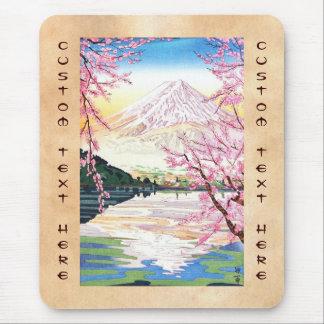 Fuji del hanga Japón de la espinilla de Kawaguchi  Alfombrilla De Ratón