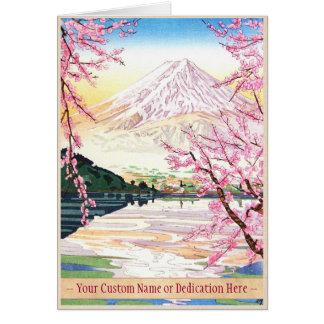 Fuji del hanga Japón de la espinilla de Kawaguchi  Tarjetas
