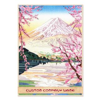 Fuji del hanga Japón de la espinilla de Kawaguchi  Tarjeta De Negocio