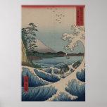 Fuji del mar de Satta Poster