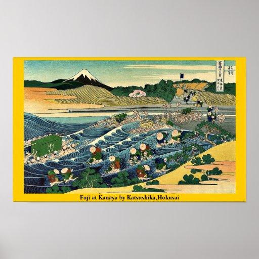Fuji en Kanaya por Katsushika, Hokusai Impresiones