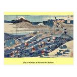 Fuji en Kanaya por Katsushika, Hokusai Tarjeta Postal