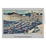 Fuji en Kanaya por Katsushika, Hokusai Tarjetón