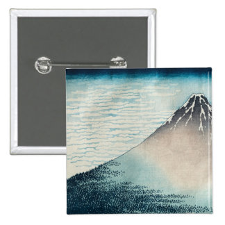 Fuji en Weather claro Pin Cuadrado