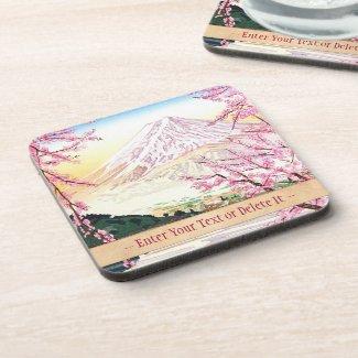 Fuji from Kawaguchi Okada Koichi shin hanga japan Drink Coaster