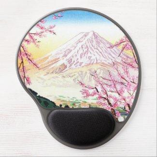 Fuji from Kawaguchi Okada Koichi shin hanga japan Gel Mouse Pad