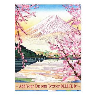 Fuji from Kawaguchi Okada Koichi shin hanga japan Postcard