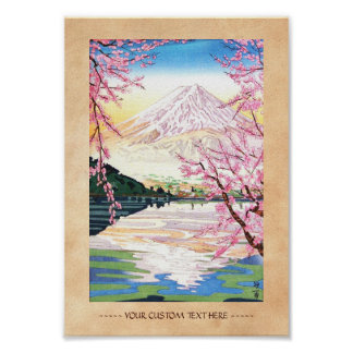 Fuji from Kawaguchi Okada Koichi shin hanga japan Posters