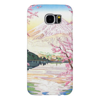 Fuji from Kawaguchi Okada Koichi shin hanga japan Samsung Galaxy S6 Case