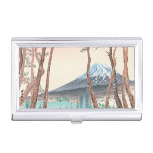 Japanese business card holders cases zazzle fuji from the pine forest at harajiku japanese art business card holder colourmoves